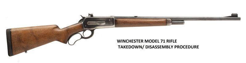 Winchester 71 Rifle Service Manuals, Cleaning, Repair Manuals